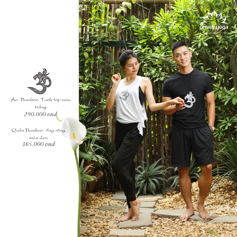 Quần dài Bamboo thiên nhiên ống rộng  màu đen