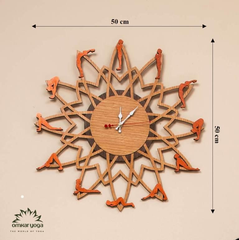 Đồng hồ Yoga treo tường chào mặt trời