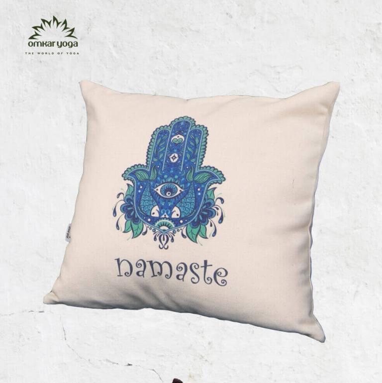 Gối Yoga trang trí họa tiết bàn tay Hamsa