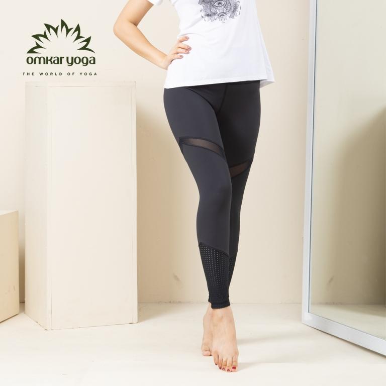 Quần tập Yoga cắt chéo phối màu QD-PB-L1