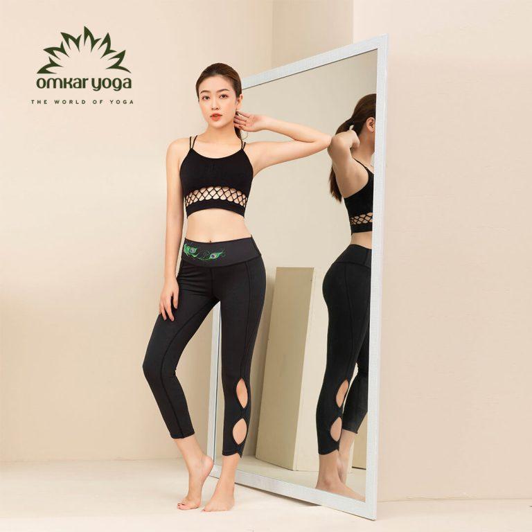 Quần tập Yoga cắt hình oval QL-PW007-L1