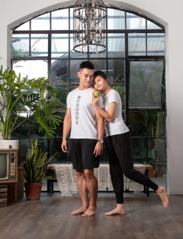 Áo tập Yoga nam - nữ họa tiết 7 luân xa