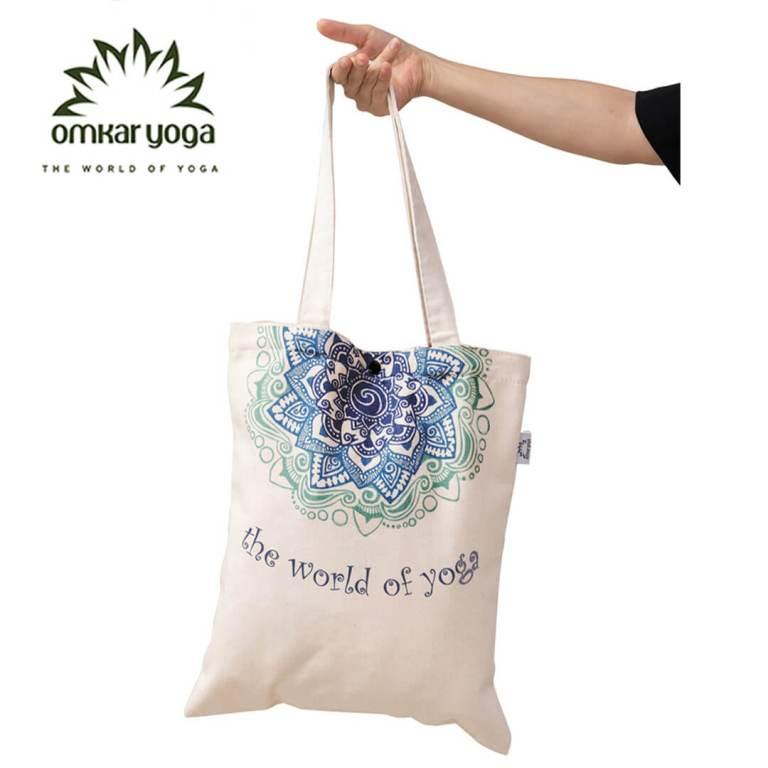 Túi Yoga thời trang họa tiết Mandala xanh